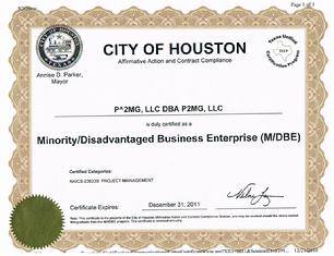 City of Houston MDBE Certification