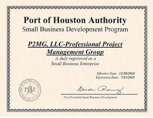 Port of Houston Certification